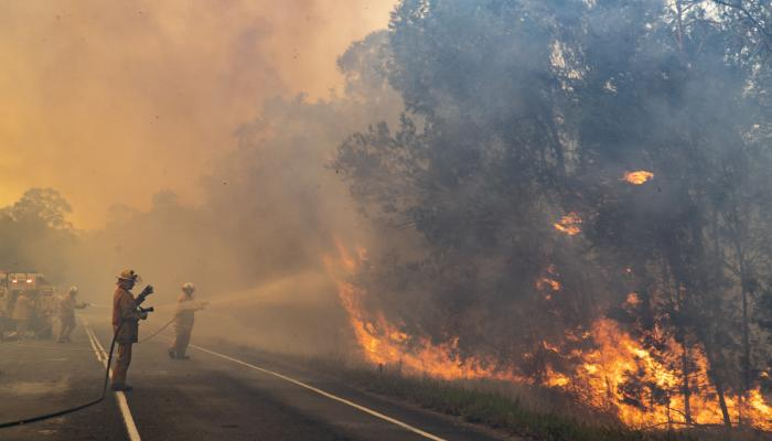 Rural Fire Brigade fighting fires