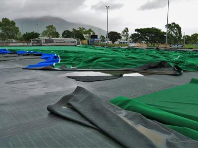Flood damaged sports field