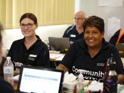 Community recovery workers in call centre