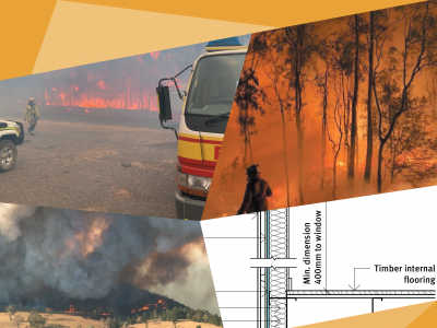 Images of fires and plans